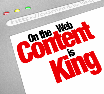 Content Is King Website Screen Increase Traffic More Articles Fe